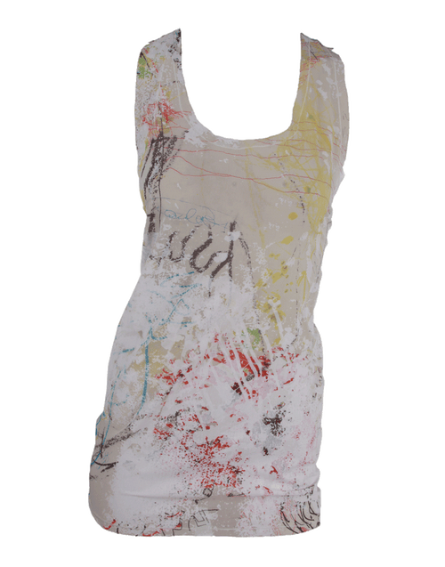 ALEXANDER WANG CLOTHINGTOPT-SHIRT Racer Back Splatter Tank Top