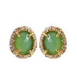 ALEXIS BITTAR JEWELRYBOUTIQUEEARRING GOLD Siyabona Chrysoprase Post Earrings
