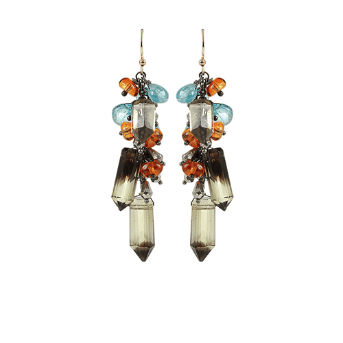 ALEXIS BITTAR JEWELRYBOUTIQUEEARRING QTZ/AQUA Bi-Color Quartz Cluster Earrings