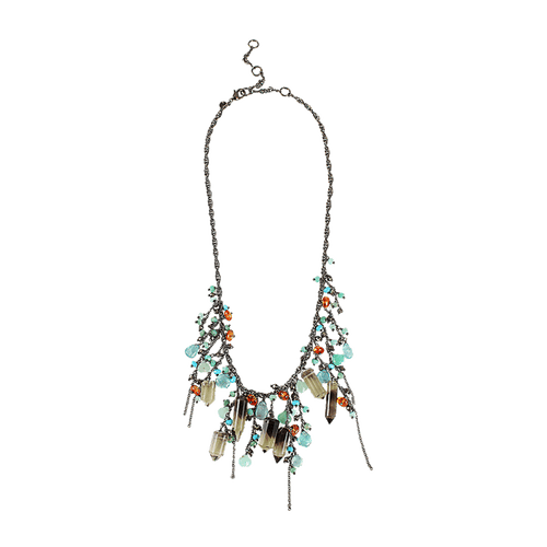 ALEXIS BITTAR JEWELRYBOUTIQUENECKLACE O QTZ/AQUA Bi-Color Quartz Cluster Necklace