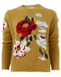 ALLUDE CLOTHINGTOPKNITS Floral Print Pullover