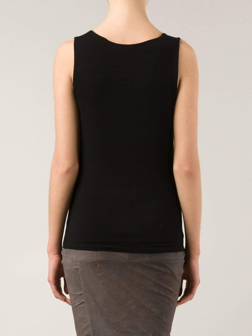 ALLUDE CLOTHINGTOPTANK BLACK / XXL Stretch Shell Tank
