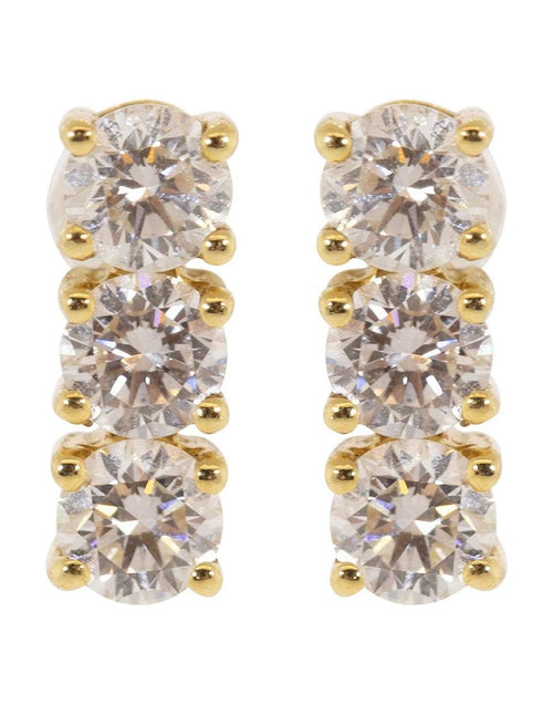 ANITA KO JEWELRYFINE JEWELEARRING YLWGOLD Three Dot Diamond Earrings