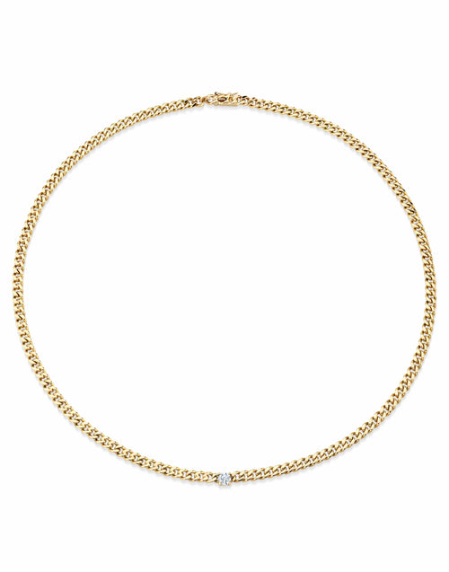 ANITA KO JEWELRYFINE JEWELNECKLACE O YLWGOLD Round Diamond Curb Link Chain Necklace