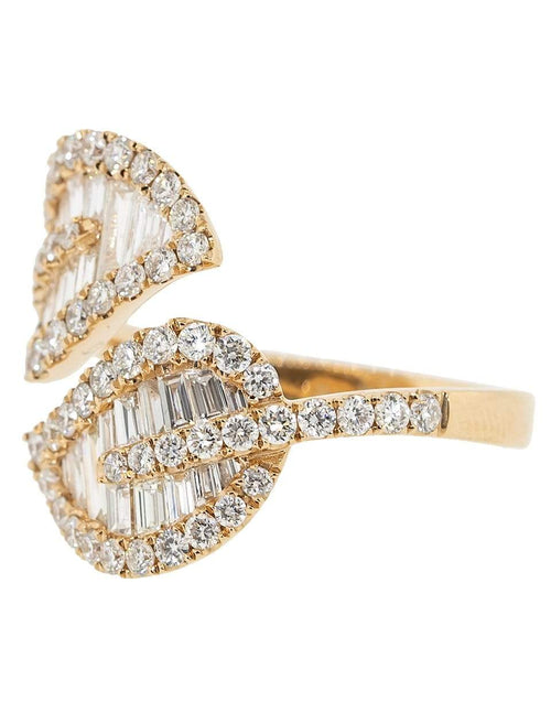 ANITA KO JEWELRYFINE JEWELRING ROSEGOLD / 6.5 Medium Diamond Leaf Ring