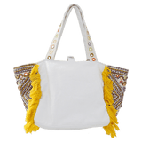 ANTIK BATIK HANDBAGTOTES WHITE Kino Cabas Embroidered Bag