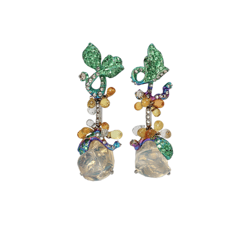ARUNASHI JEWELRYFINE JEWELEARRING TITANIUM Fire Opal Drop Earrings