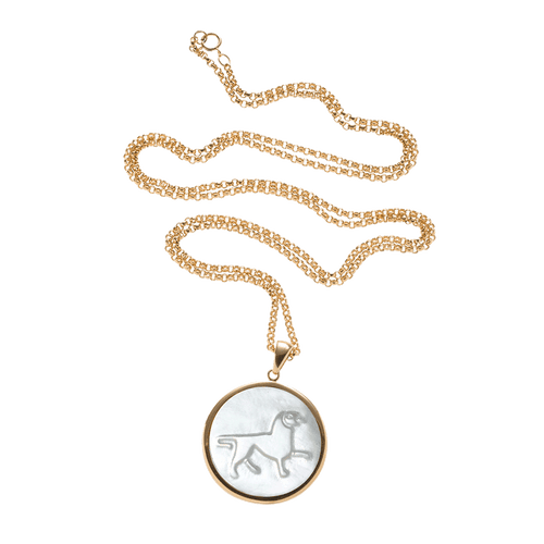 ASHA BY ADM JEWELRYBOUTIQUENECKLACE O Zodiac Pendant Necklace