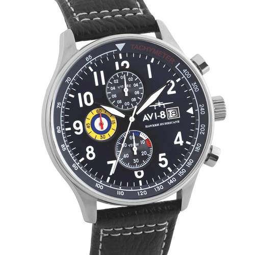 AVI-8 ACCESSORIEWATCHES BLK/NVY Hawker Hurricane Watch