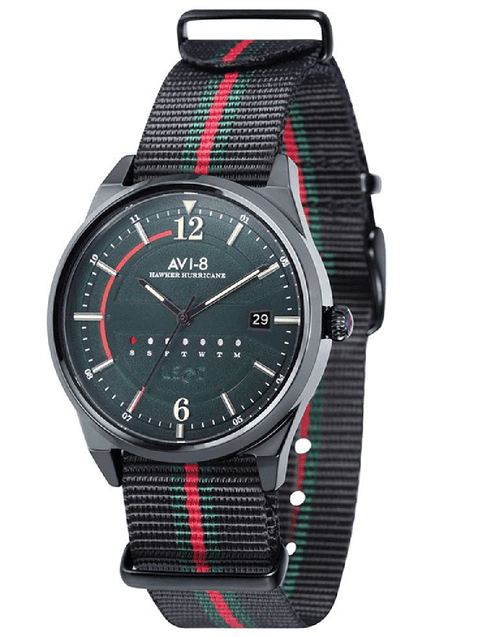 AVI-8 ACCESSORIEWATCHES RED/BLK Red and Black Hawker Hurricane Watch