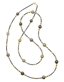 BAGGINS JEWELRYFINE JEWELNECKLACE O YLWGOLD Tahitian Pearl and Black Diamond Beaded Wrap Necklace
