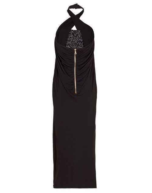 BALMAIN CLOTHINGDRESSCASUAL Long Draped Sequin Dress