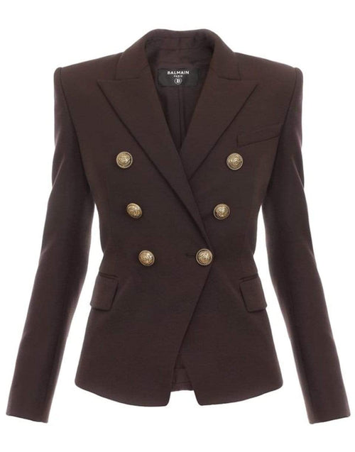 BALMAIN CLOTHINGJACKETMISC Six Button Grain De Poudre Jacket