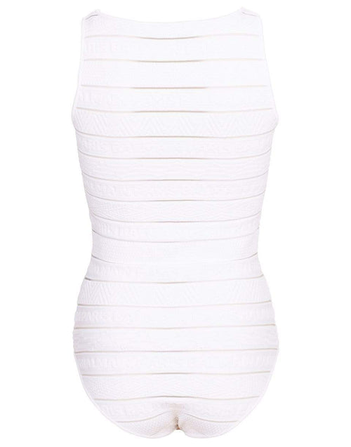 BALMAIN CLOTHINGTOPMISC Logo Stripe Strap Bodysuit