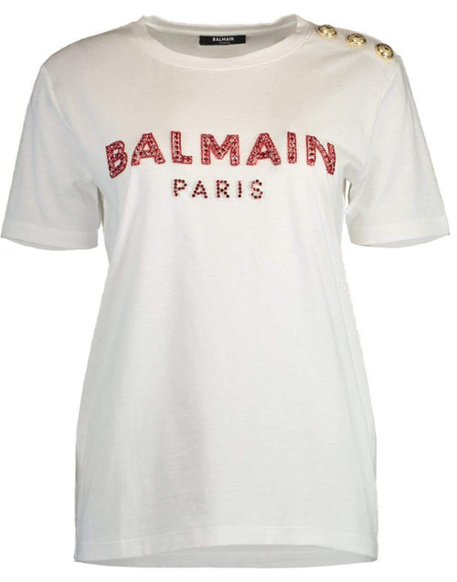 BALMAIN CLOTHINGTOPT-SHIRT Three Button Embroidered Logo Shirt