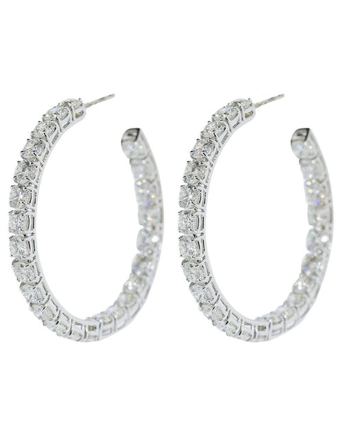 BAYCO JEWELRYFINE JEWELEARRING WHTGOLD Medium Round Diamond Hoop Earrings