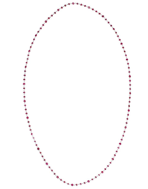 BAYCO JEWELRYFINE JEWELNECKLACE O WHTGOLD Burmese Rubies by the Yard Necklace