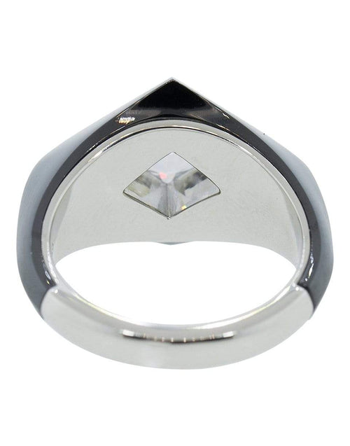BAYCO JEWELRYFINE JEWELRING BLACK / 5.75 Lozenge Diamond and Black Ceramic Ring