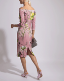 BLUMARINE CLOTHINGDRESSCASUAL Off Shoulder Floral Dress