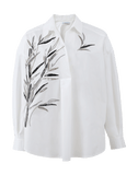 BLUMARINE CLOTHINGTOPBLOUSE Oversized Embroidered Henley