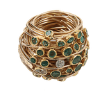 BOAZ KASHI JEWELRYFINE JEWELRING ROSEGOLD / 6 Wire Wrap Ring With Emeralds