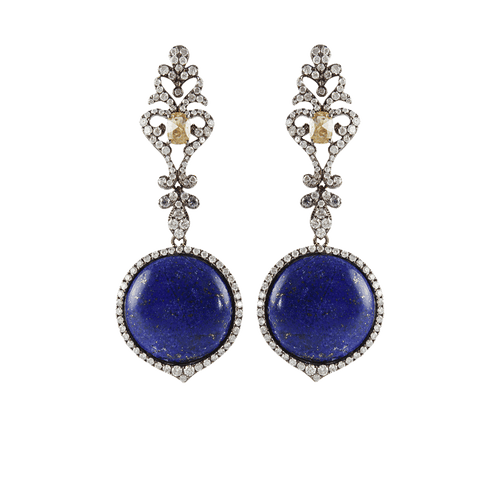 BOCHIC JEWELRYFINE JEWELEARRING WHT GOLD Lapis and Diamond Drop Earrings