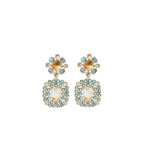 BOUNKIT JEWELRY JEWELRYBOUTIQUEEARRING BLUE Clear And Blue Topaz Earrings