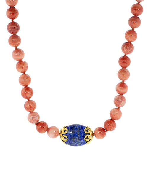 BOUNKIT JEWELRY JEWELRYBOUTIQUENECKLACE O AS SAM Lapis and Cameo Shell Necklace