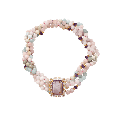 BOUNKIT JEWELRY JEWELRYBOUTIQUENECKLACE O CLEAR Morganite And Amethyst Necklace