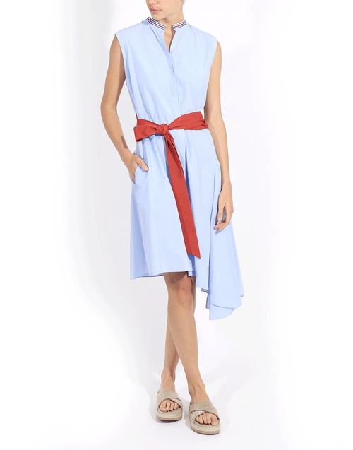 BRUNELLO CUCINELLI CLOTHINGDRESSCASUAL Asymmetrical Hem Tie Waist Dress
