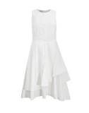 BRUNELLO CUCINELLI CLOTHINGDRESSCASUAL Crinkle Asymmetrical Tiered Dress