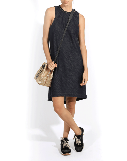 BRUNELLO CUCINELLI CLOTHINGDRESSCASUAL High Low Monili Neck Dress