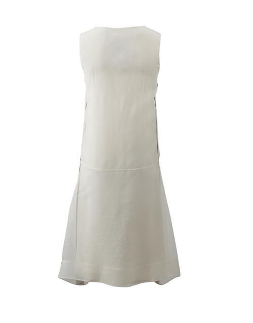 BRUNELLO CUCINELLI CLOTHINGDRESSCASUAL Monili Trim Trapeze Dress