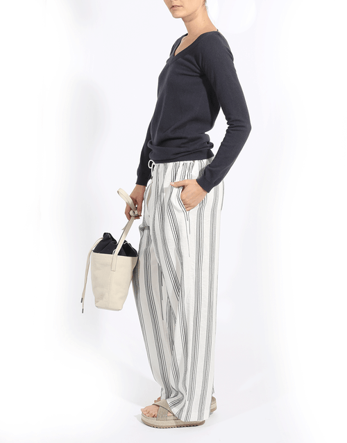 BRUNELLO CUCINELLI CLOTHINGPANTMISC Linen Drawstring Pants