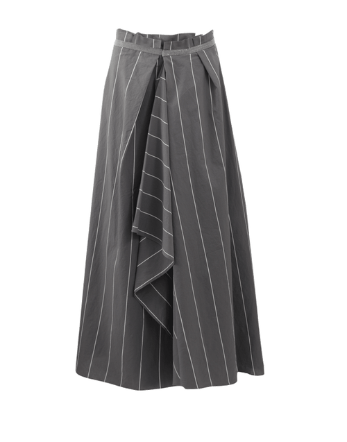 BRUNELLO CUCINELLI CLOTHINGSKIRTEVENING Pin Stripe Ball Skirt