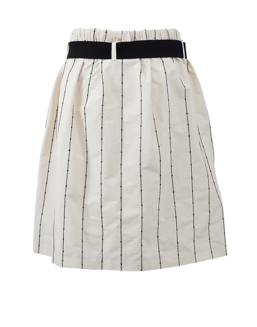 BRUNELLO CUCINELLI CLOTHINGSKIRTMISC A-Line Skirt With Paillette Stripes
