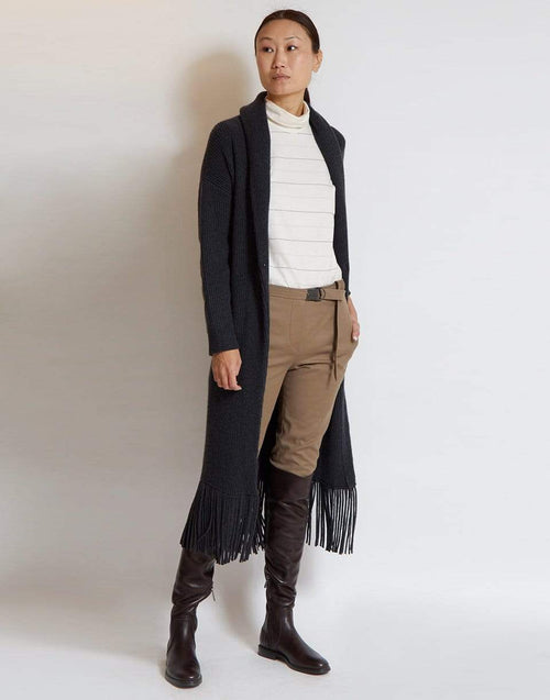 BRUNELLO CUCINELLI CLOTHINGTOPCARDIGAN Belted Maxi Shawl Cardigan