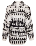 BRUNELLO CUCINELLI CLOTHINGTOPCARDIGAN BLK/WHT / M Hand Crocheted Belted Cardigan