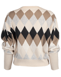 BRUNELLO CUCINELLI CLOTHINGTOPSWEATER Cropped Argyle Pullover Sweater