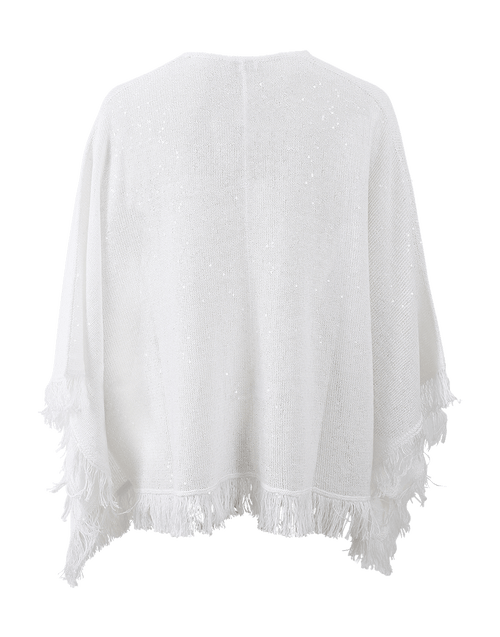 BRUNELLO CUCINELLI CLOTHINGTOPSWEATER Fringe Bottom Poncho
