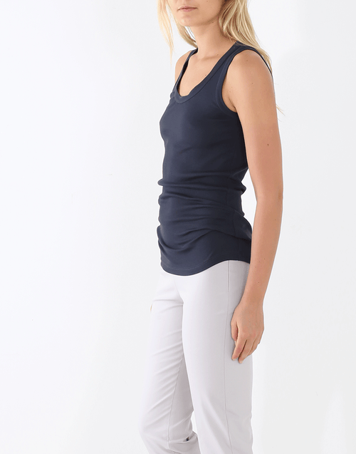 BRUNELLO CUCINELLI CLOTHINGTOPTANK Monili Trim Tank