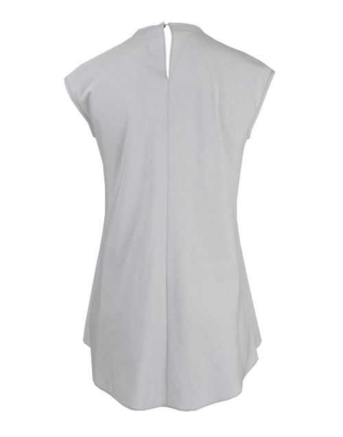 BRUNELLO CUCINELLI CLOTHINGTOPTUNIC Sleeveless Pleated Monili-Trim Pullover