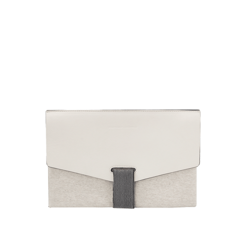 BRUNELLO CUCINELLI HANDBAGCLUTCHES BUTTER Leather Mixed Media Clutch
