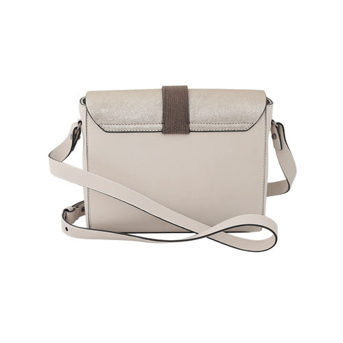 BRUNELLO CUCINELLI HANDBAGSHOULDER PLATINUM Stardust Leather Crossbody