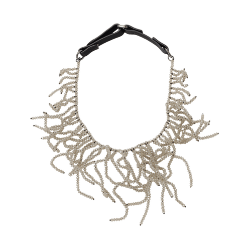 BRUNELLO CUCINELLI JEWELRYBOUTIQUENECKLACE O TWINE Glass Bead Tangle Choker