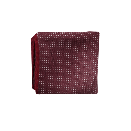 BRUNELLO CUCINELLI MENSACCESSORYMISC BURGUNDY Polka Dot Pocket Square