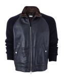 BRUNELLO CUCINELLI MENSCLOTHINGJACKET Leather Bomber Jacket