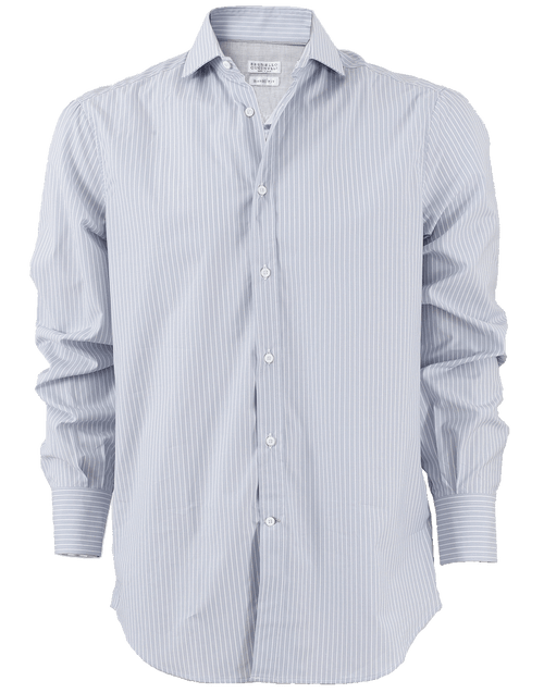 BRUNELLO CUCINELLI MENSCLOTHINGSHIRT Button Down Striped Shirt