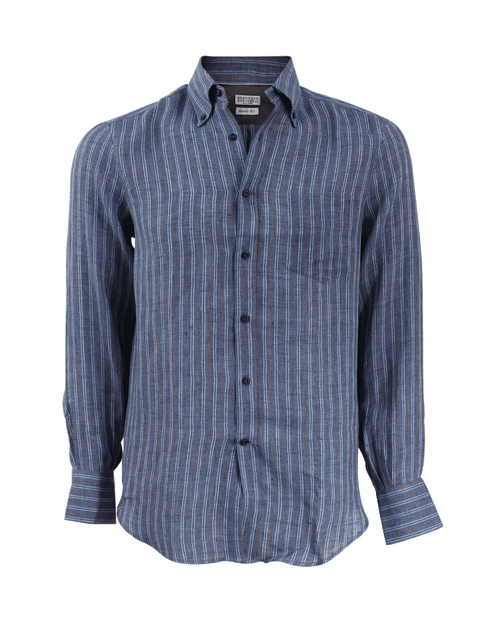 BRUNELLO CUCINELLI MENSCLOTHINGSHIRT Striped Shirt