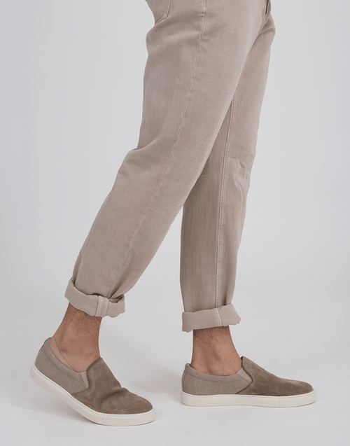 BRUNELLO CUCINELLI MENSSHOECASUAL Suede And Canvas Slip On